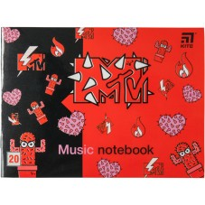 Тетрадь для нот Kite MTV MTV20-405-2, А5, 20 листов