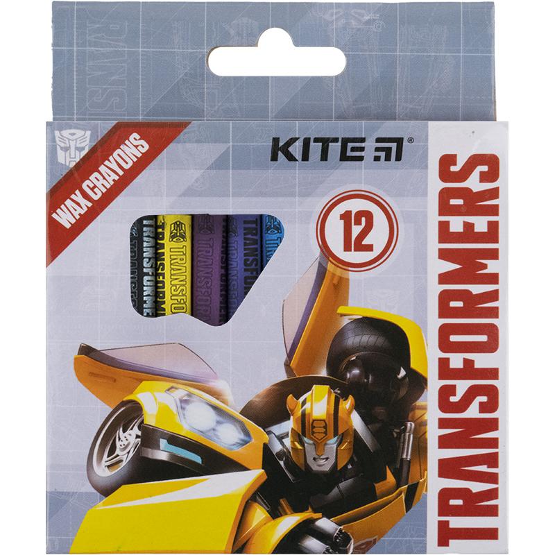 Крейда воскова Kite Transformers TF21-070, 12 кольорів