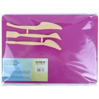 Набор для лепки Kite K17-1140-10 (доска + 3 стека), розовий