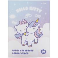 Картон белый Kite Hello Kitty HK21-254, А4, 10 листов, папка