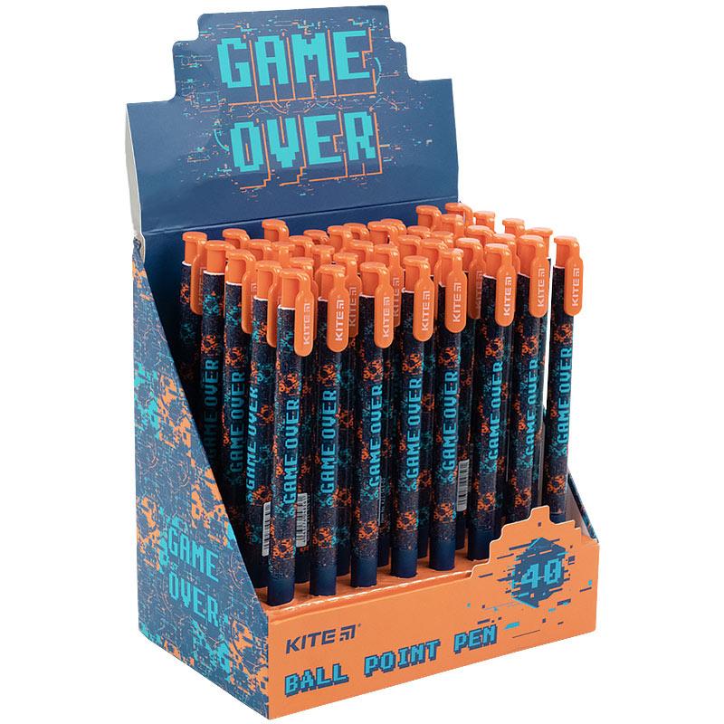 Ручка кулькова автоматична Kite Game over K21-363-02, синя