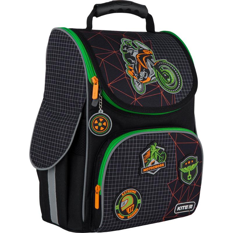 Рюкзак школьный каркасный Kite Education Motocross K21-501S-2