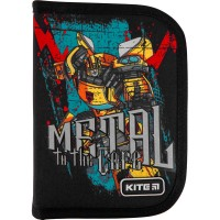 Пенал без наполнения Kite Education Transformers TF21-621, 1 отделение, 1 отворот