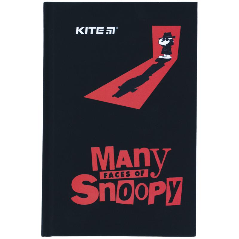 Книга записная Kite Snoopy SN21-199-1, твердая обложка, А6, 80 листов, клетка