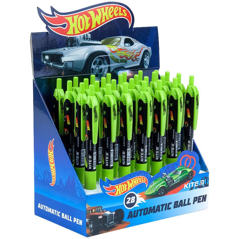 Ручка кулькова автоматична Kite Hot Wheels HW21-039, синя