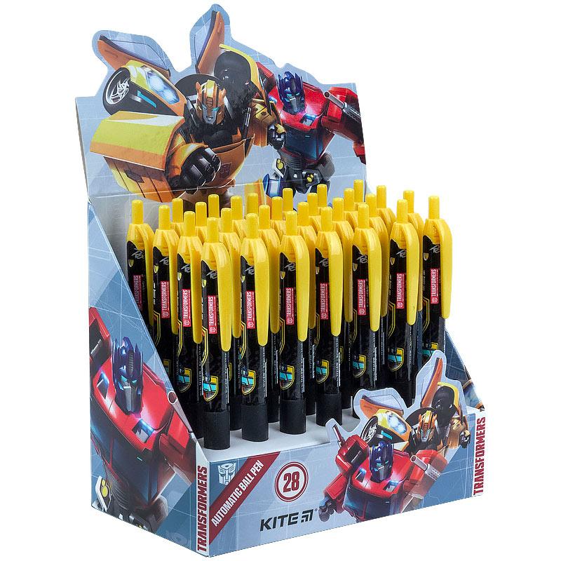 Ручка кулькова автоматична Kite Transformers TF21-039, синя