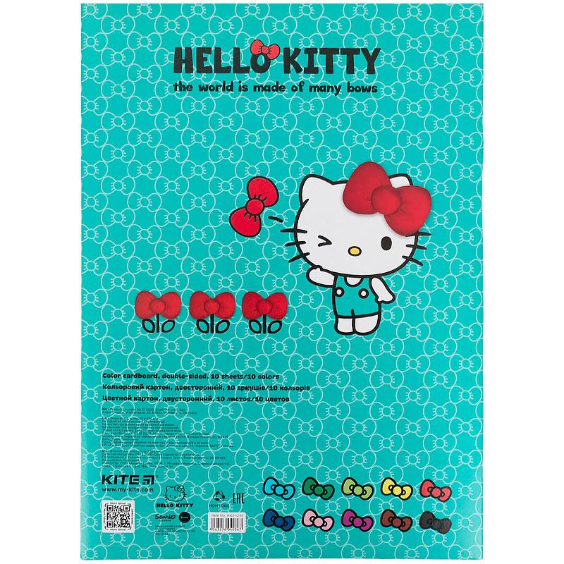 Картон цветной двусторонний Kite Hello Kitty HK21-255