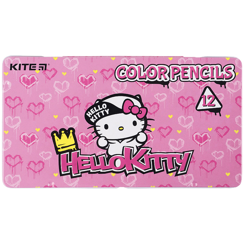 Олівці кольорові тригранні Kite Hello Kitty HK21-058 12 шт.