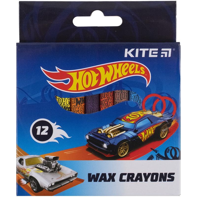 Крейда воскова Kite Hot Wheels HW21-070, 12 кольорів