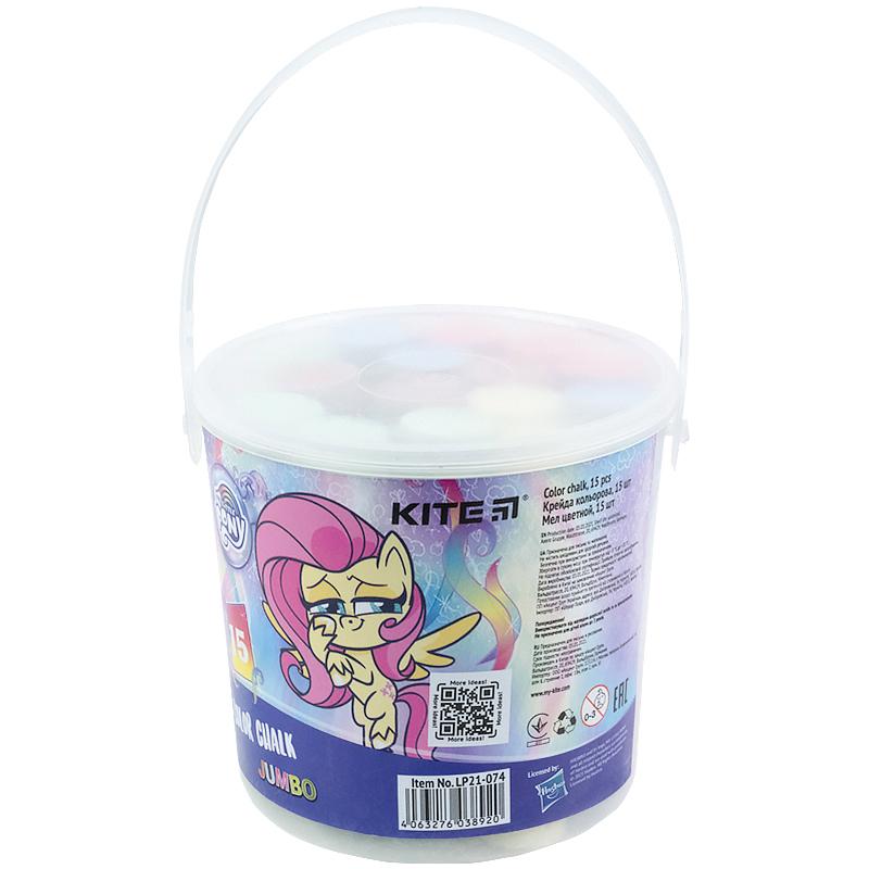 Крейда кольорова Kite Jumbo My Little Pony LP21-074, 15 шт. у відерці