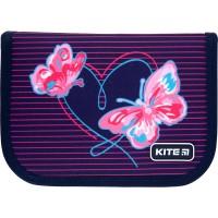 Пенал без наполнения Kite Education Butterflies K21-622-3, 1 отделение, 2 отворота