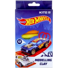 Пластилин восковой Kite Hot Wheels HW21-086 12 цветов, 200 г