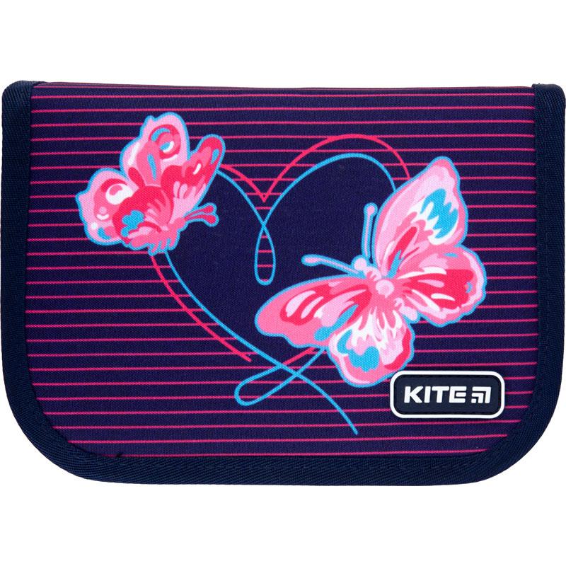 Пенал с наполнением Kite Education Butterflies K21-622H-3, 1 отделение, 2 отворота