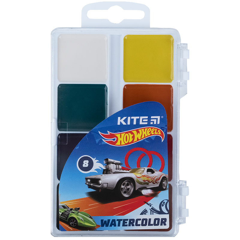 Фарби акварельні Kite Hot Wheels HW21-065, 8 кольорів