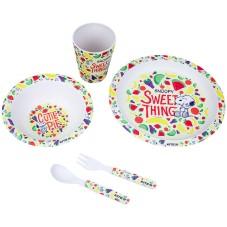 Набір посуду з бамбука у коробці Kite Snoopy SN21-313, 5 предметів