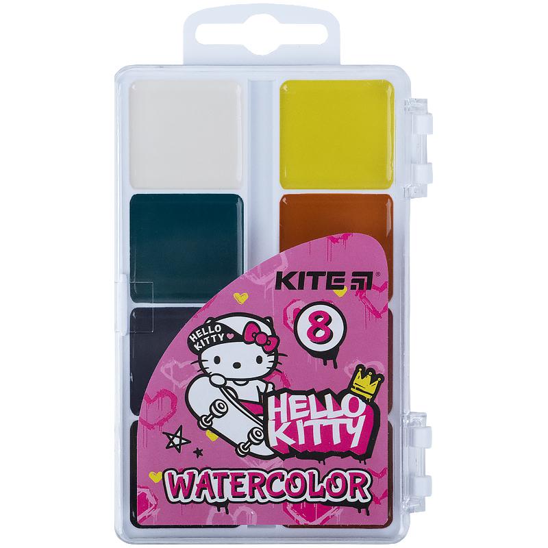 Фарби акварельні Kite Hello Kitty HK21-065, 8 кольорів