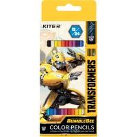 Олівці кольорові двосторонні Kite Transformers TF20-054, 12 шт.