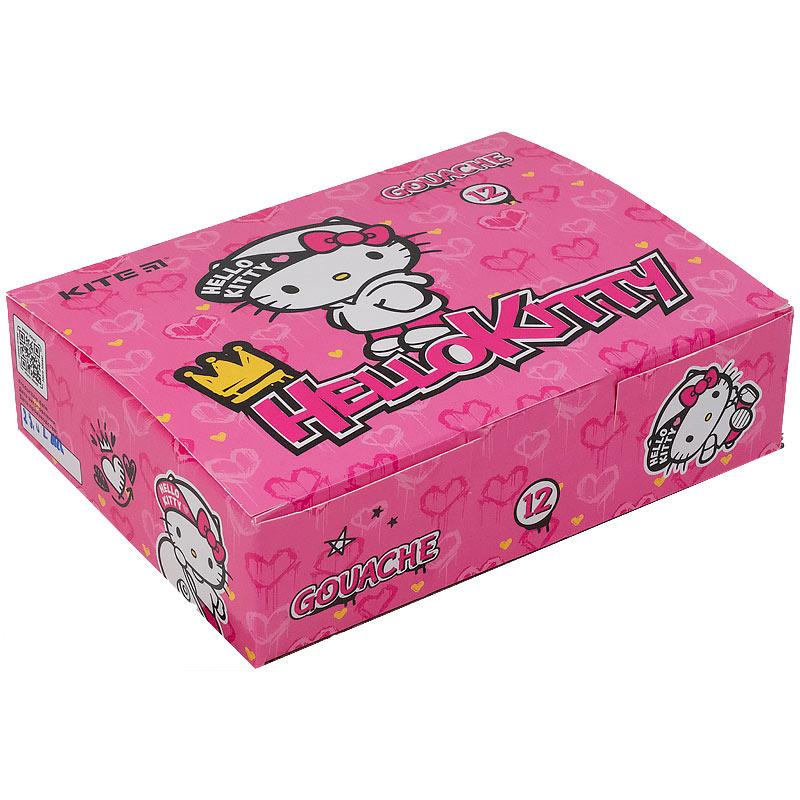 Гуаш Kite Hello Kitty HK21-063, 12 кольорів