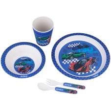 Набір посуду з бамбука у коробці Kite Racing, K20-313-2, 5 предметів