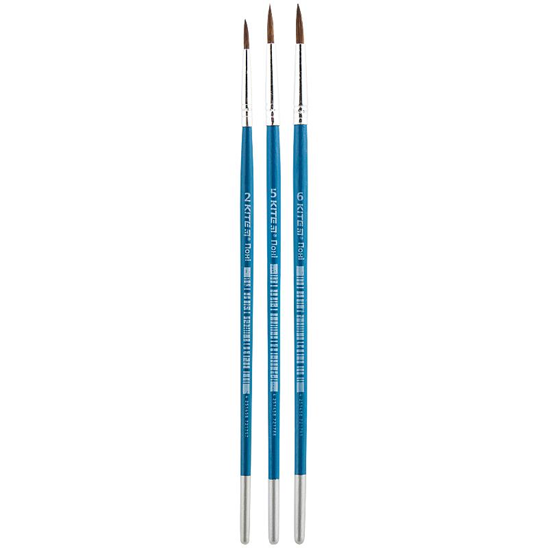 Набор кистей Kite K18-348 в пенале (пони круглый 2, 5, 6)