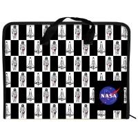 Папка-портфель на молнии Kite NASA NS21-202, 1 отделение, A4