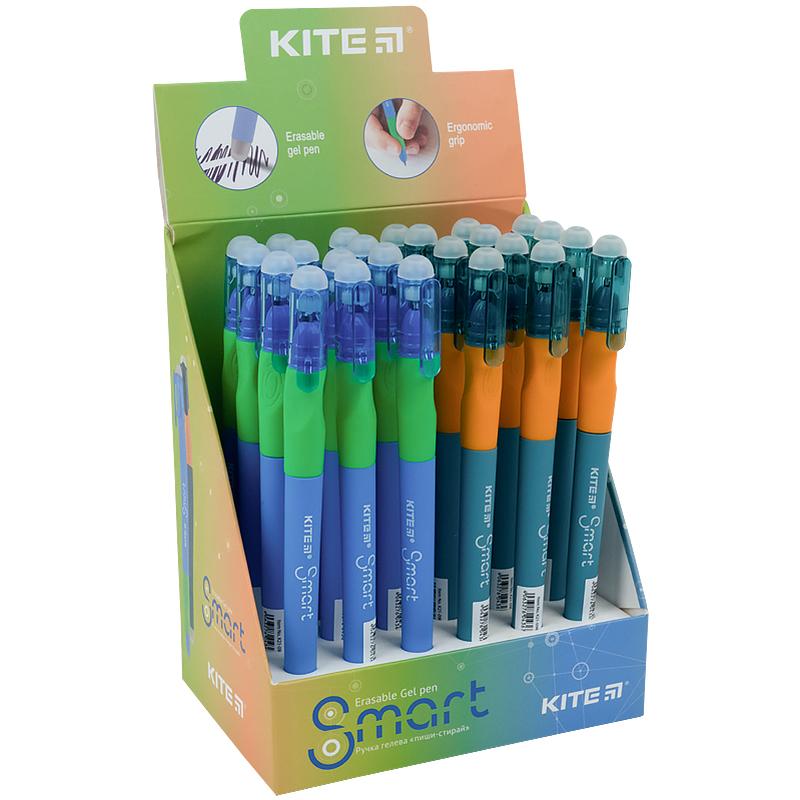 """Ручка гелева """"пиши-стирай"""" Kite Smart K21-098-02, синя"""