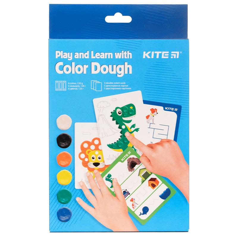 Набір ліпи і розвивайся Kite K21-326-02, 6 кольорів + 5 карток