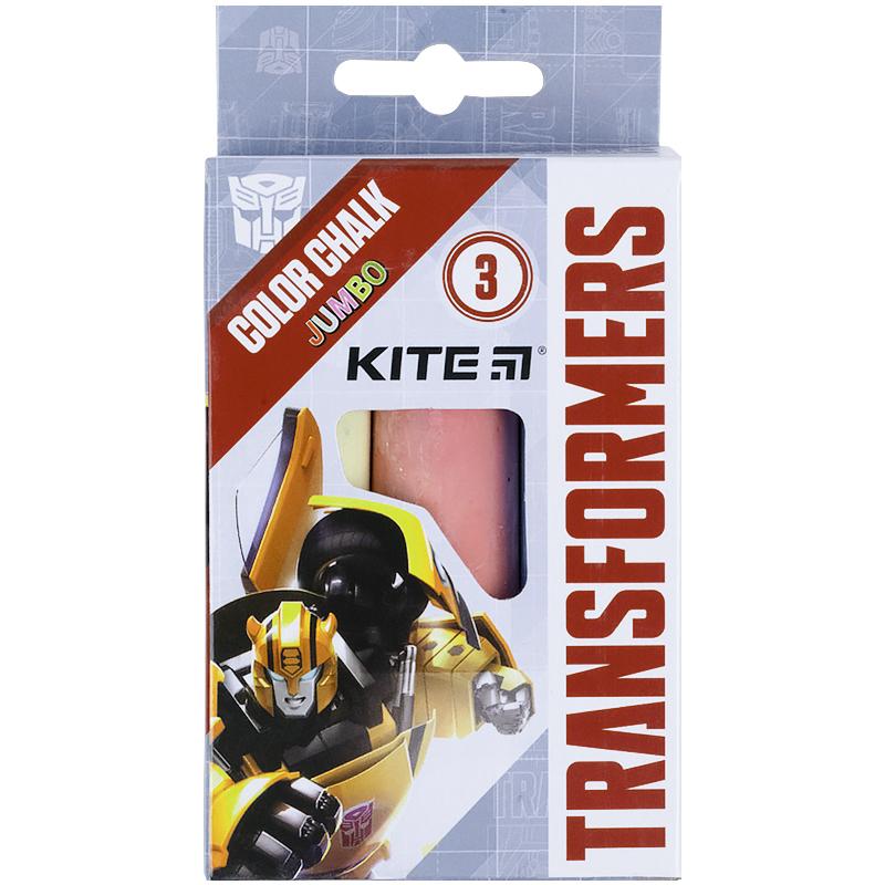 Крейда кольорова Kite Jumbo Transformers TF21-077, 3 кольори