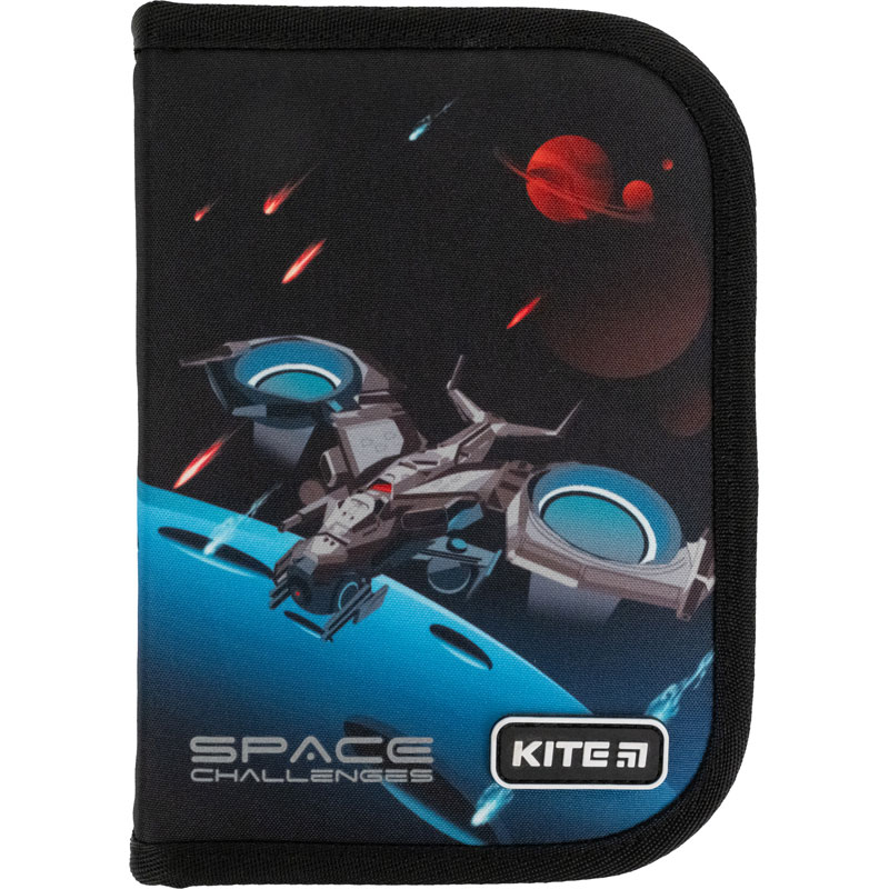 Пенал без наполнения Kite Education Space challenges K21-621-4, 1 отделение, 1 отворот