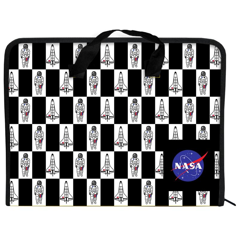 Папка-портфель на блискавці Kite NASA NS21-202, 1 відділення, A4