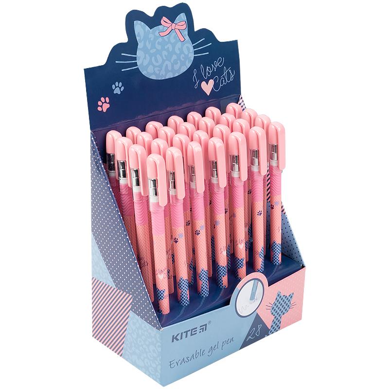 """Ручка гелева """"пиши-стирай"""" Kite Cat K21-068-01, синя"""
