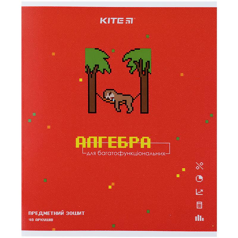 Зошит предметний Kite Pixel K21-240-16, 48 аркушів, клітинка, алгебра