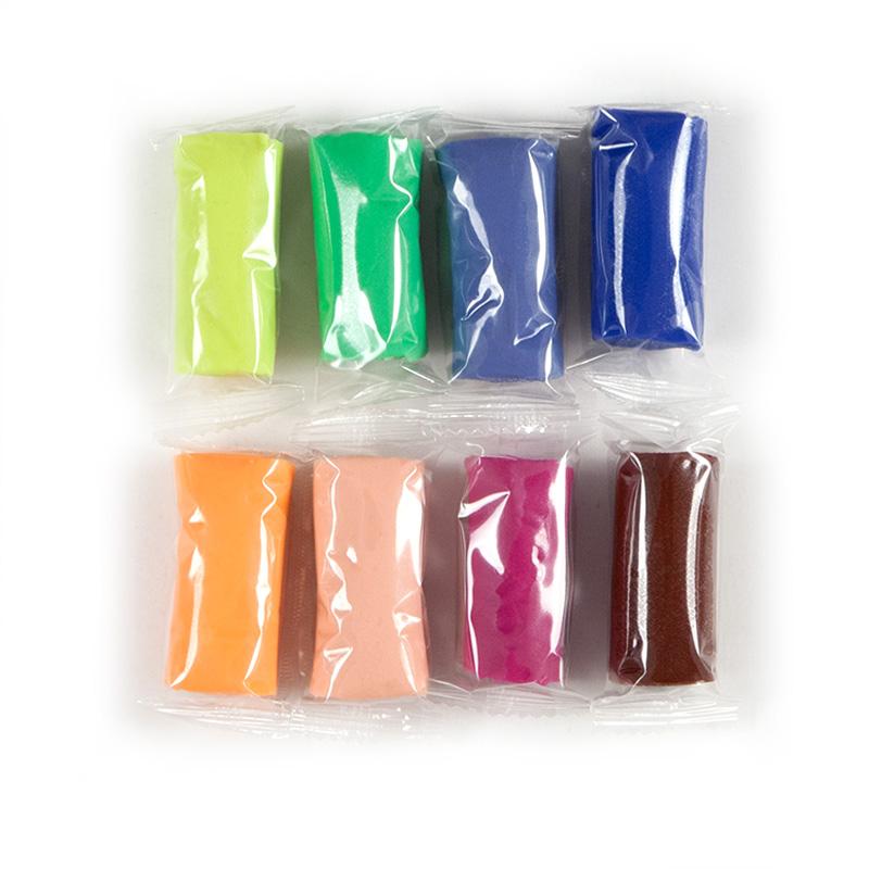 Цветнове тесто для лепки Kite Jolliers K19-137, 8*20 г, +формочки +стек