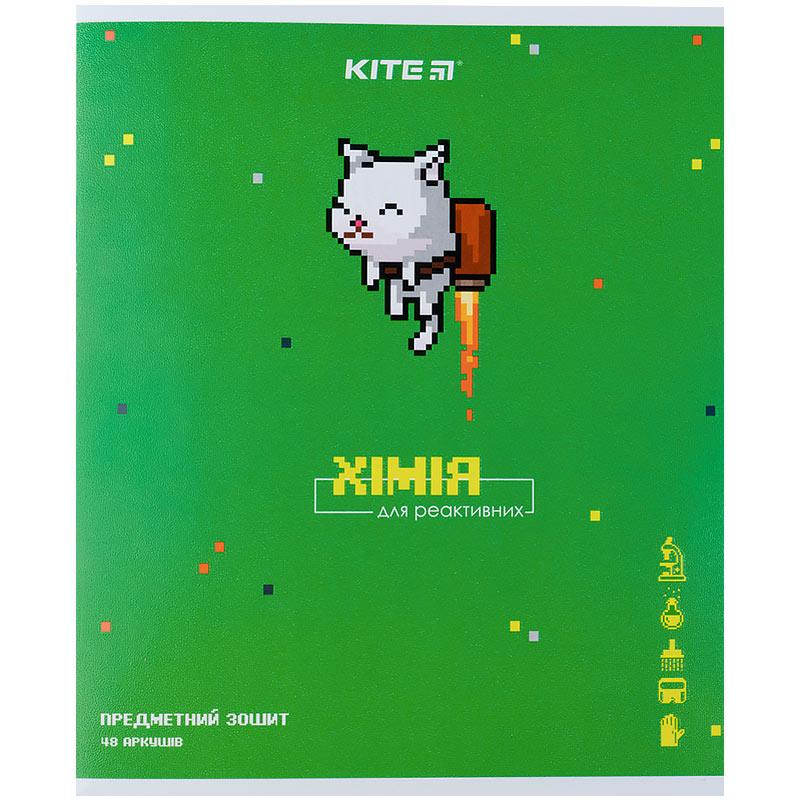 Зошит предметний Kite Pixel K21-240-14, 48 аркушів, клітинка, хімія