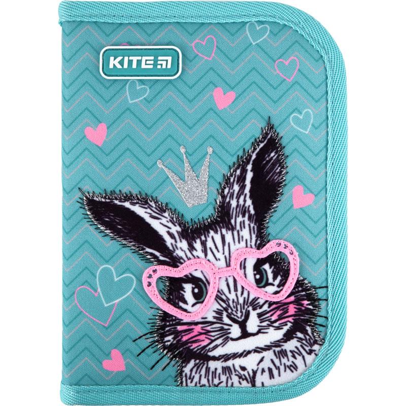 Пенал без наполнения Kite Education Cute Bunny K21-621-1, 1 отделение, 1 отворот