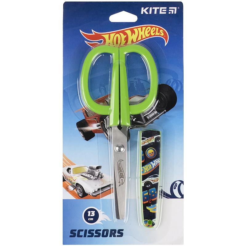 Ножиці в футлярі Kite Hot Wheels HW21-124, 13 см