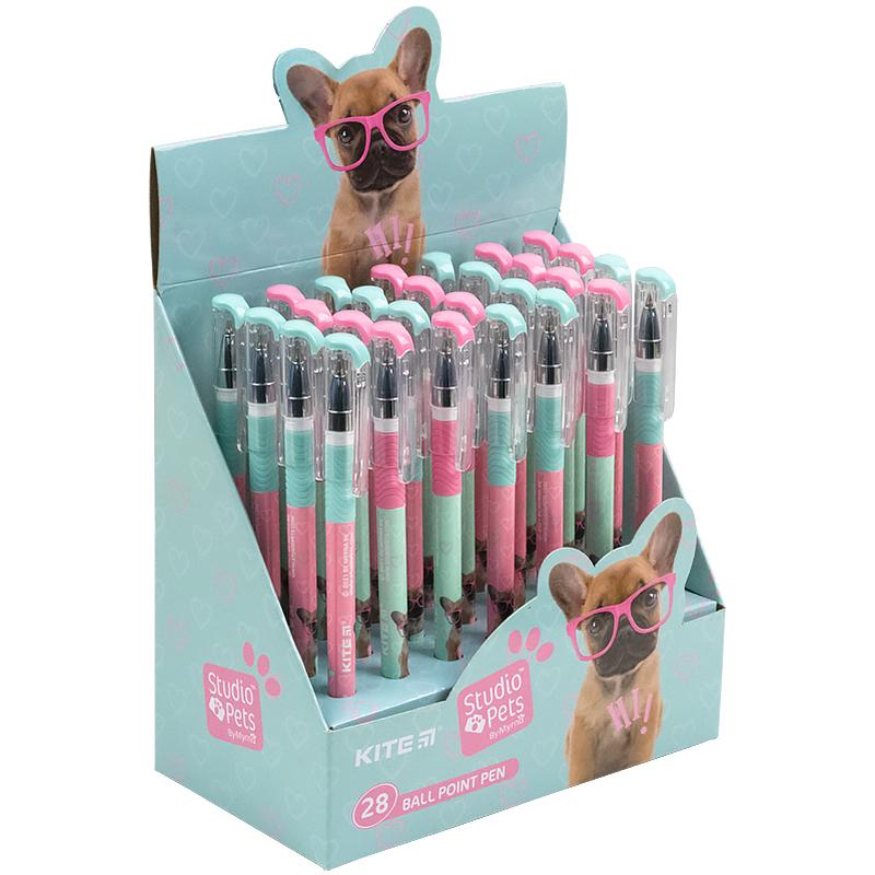 Ручка шариковая Kite Studio Pets SP21-032, синяя