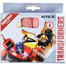 Крейда кольорова Kite Jumbo Transformers TF21-073, 6 кольорів