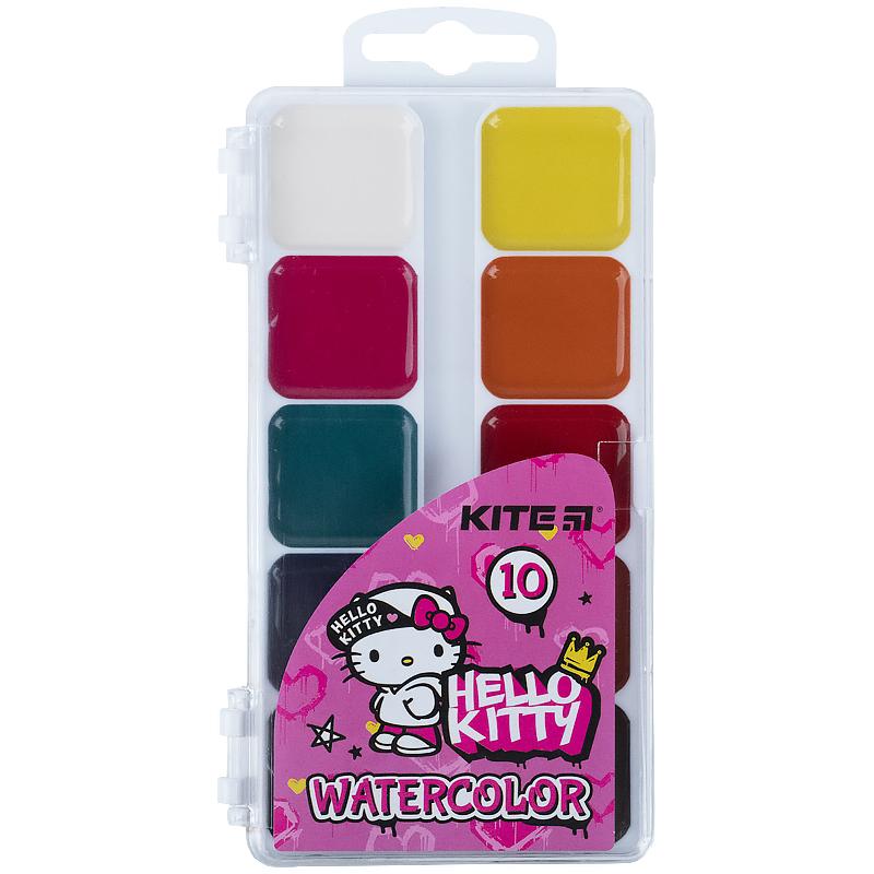 Фарби акварельні Kite Hello Kitty HK21-060, 10 кольорів