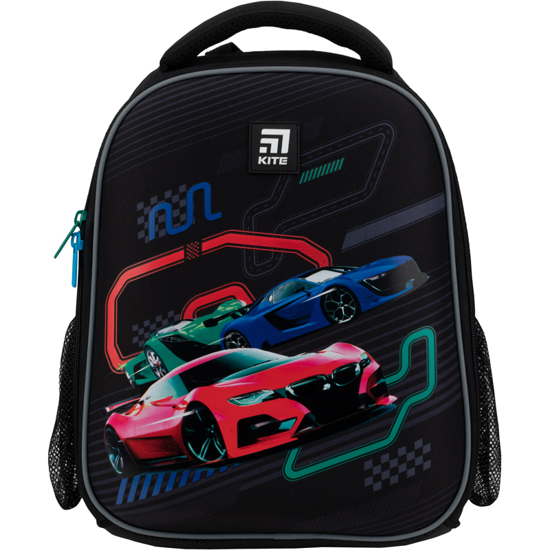 Рюкзак школьный каркасный Kite Education Racing cars K21-555S-10