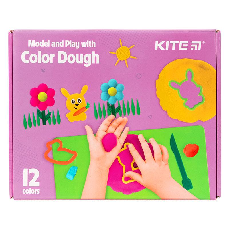 Набір ліпи і розвивайся Kite K21-325-01, 12 кольорів + інструменти