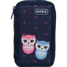 Пенал без наполнения Kite Education Lovely owls K21-623-1, 2 отделения