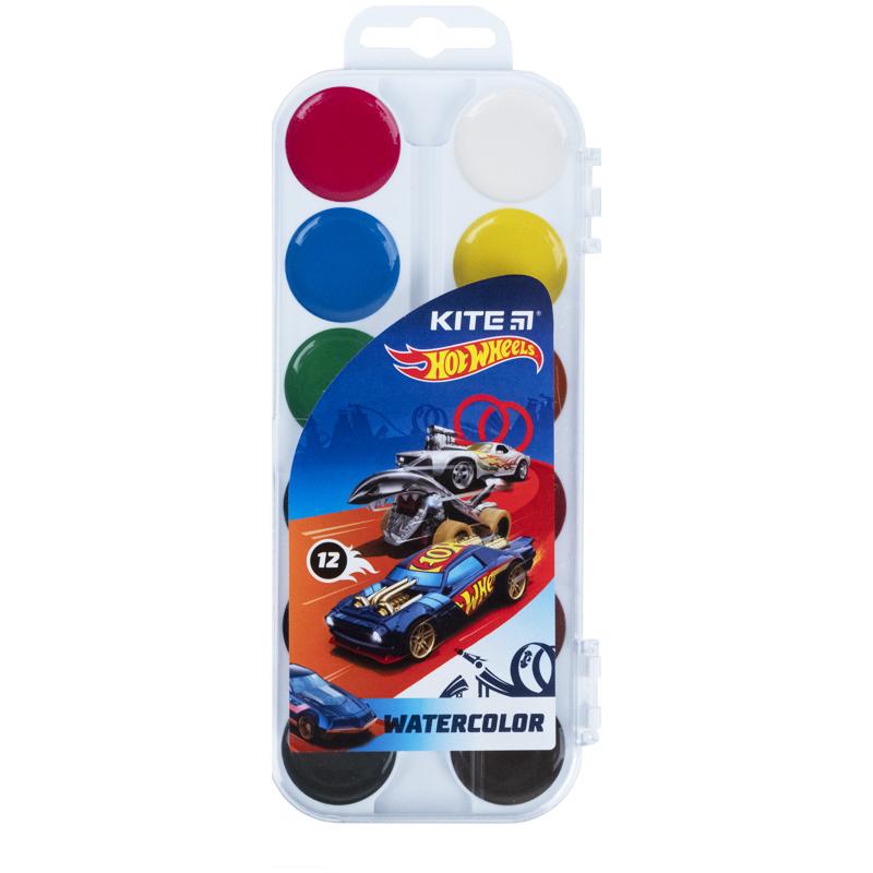 Фарби акварельні Kite Hot Wheels HW21-061, 12 кольорів