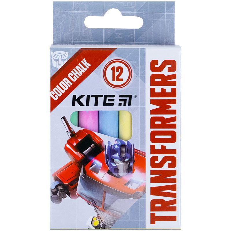 Крейда кольорова Kite Jumbo Transformers TF21-075, 12 штук