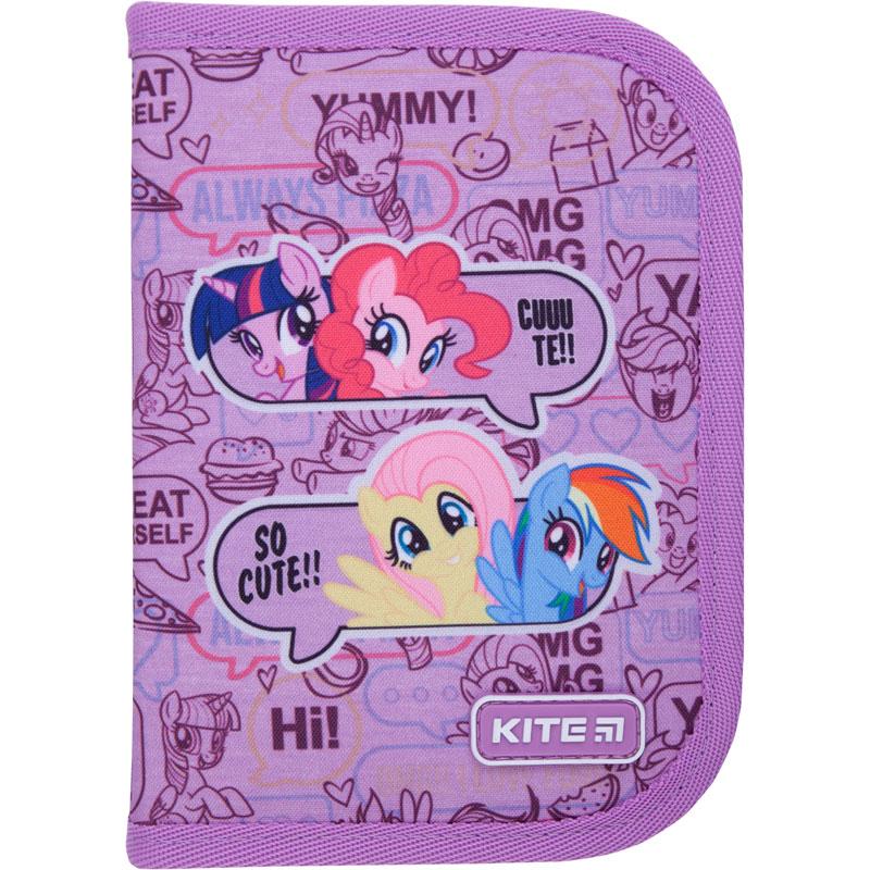 Пенал без наполнения Kite Education My Little Pony LP21-622, 1 отделение, 2 отворота