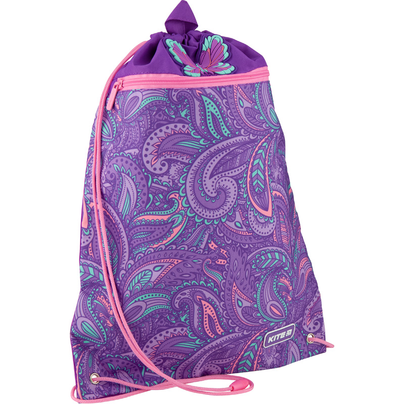Сумка для обуви с карманом Kite Education Flowery K20-601M-23