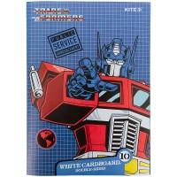 Картон белый Kite Transformers TF21-254, А4, 10 листов, папка