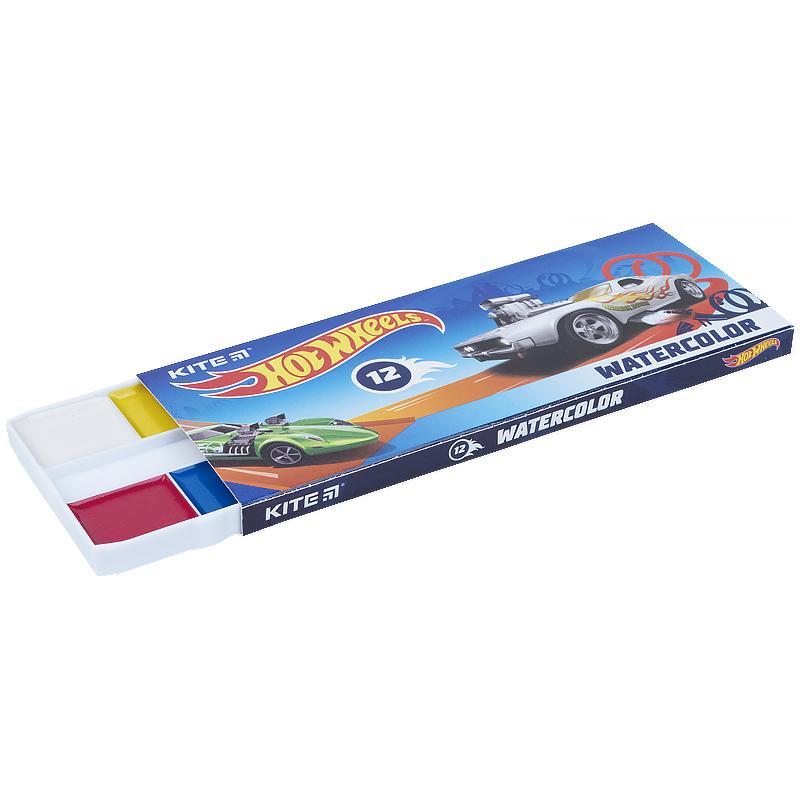 Фарби акварельні Kite Hot Wheels HW21-041, 12 кольорів