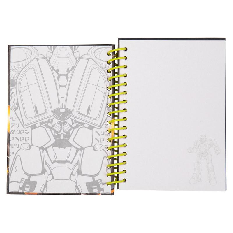 Блокнот на спирали Kite Transformers BumbleBee Movie TF19-222, А6, 80 листов, нелинованный