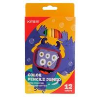 Карандаши цветные трёхгранные Kite Jolliers Jumbo K19-048-5, 12 шт.
